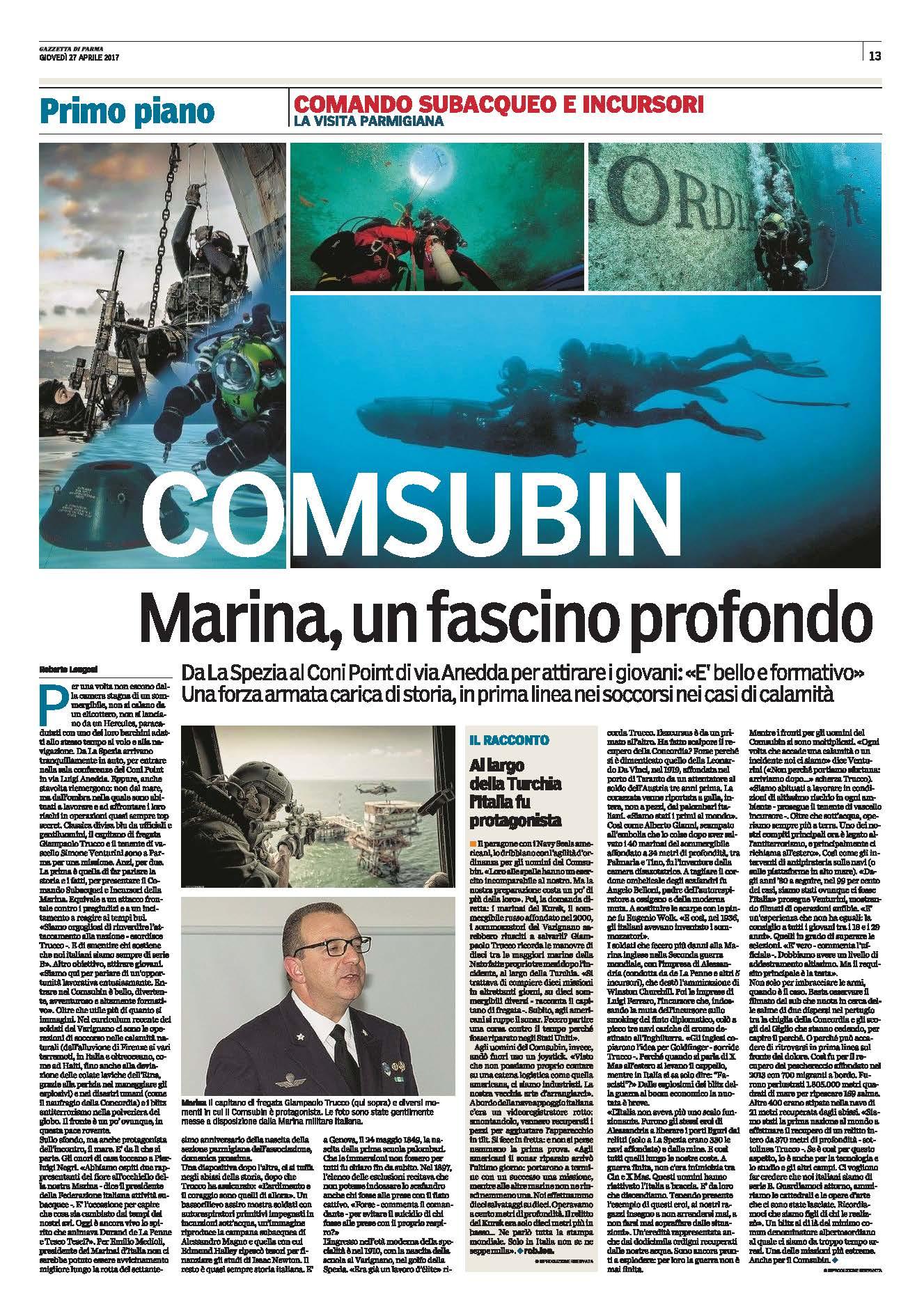 Articolo Gazzetta di Parma