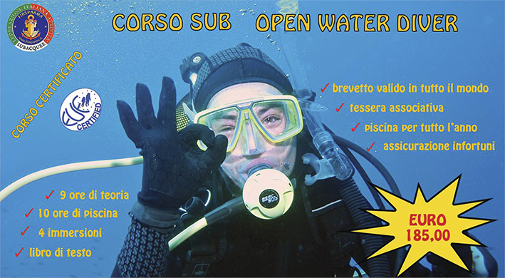 CORSO SUB OPEN (1^ LIVELLO)